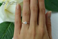 0.5 ct Rose Gold Engagement Ring. (In. Love.) (How To Get Him To Propose Awesome)