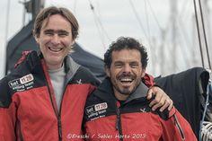 Gaetano Mura e Sam Manuard prima della partenza della Les Sables Horta Les Sables