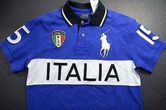 NWT POLO RALPH LAUREN MENS BIG PONY ITALIA BLUE COTTON POLO SHIRT BIG & TAll XLT
