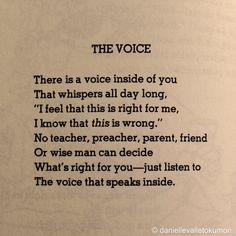 Hazle caso a esa vocecita...   Shel Silverstein