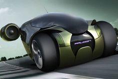 Falcon Concept Car, Jet Propelled Engines, Futuristic Vehicle, Samir Sadikhov