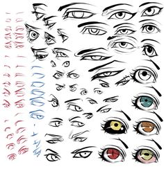 Eyezzzz by *moni158 on deviantART ✤ || CHARACTER DESIGN REFERENCES | Find more at https://www.facebook.com/CharacterDesignReferences if you're looking for: #line #art #character #design #model #sheet #illustration #expressions #best #concept #animation #drawing #archive #library #reference #anatomy #traditional #draw #development #artist #pose #settei #gestures #how #to #tutorial #conceptart #modelsheet #cartoon #eye