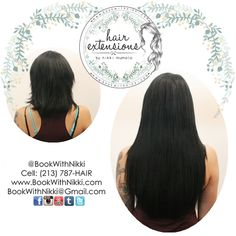 Check out this amazing before and after of my signature hair extensions done on my amazing client! You can get hair extensions for length, thickness, pops of color, or all of the above! Check out my website at http://www.BookWithNikki.com for more information. You can also call or text my cell at 213-787-HAIR to book a reservation. You can also keep in touch on Facebook and Twitter as well! #fullerton #orangecounty #longhair #hair  #hairextensions  #hairinspiration #beforeandafter
