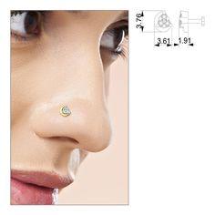 Aarini Diamond Nose Pin | Jewel Country India #Gold #Diamond #NosePin #Online