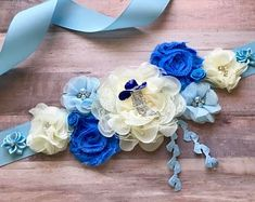 Blue, Brown and Ivory Boy Maternity Sash Cowboy Baby Shower Sash Maternity Flower Girl Baby Shower Dress Accessory Photo Prop, Dress Sash Baby Shower Sash, Cowboy Baby Shower, Baby Shower Vintage, Baby Shower Flowers, Baby Shower Balloons, Baby Shower Fun, Baby Shower Favors, Baby Shower Themes, Baby Shower Decorations