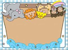 Arca de Noe, imágenes animalitos. Material Escolar