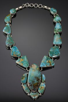 Necklace | Joe Piaso Jr. Sterling Silver with Royston Turquoise