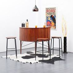 A beautiful mid-century modern bar. Click on the image to see more mid-century modern furniture!