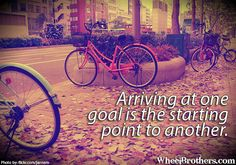 Arriving at one goal…