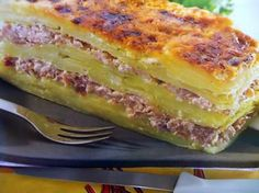 Lasagne of potatoes, Healthy Dinner Recipes, Lunch Recipes, Healthy Food, Clean Eating Chicken, Moussaka, Breakfast For Dinner, Potato Recipes, Coco, Love Food