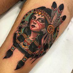 Native American Girl - Xam The Spaniard