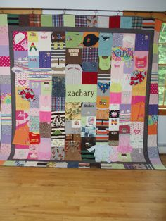 CUSTOM ORDER for KING size quilt made by BarbMalmTshirtQuilts