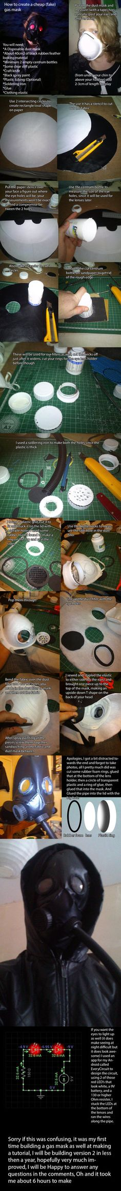 Cheap (Fake) Gas Mask Tutorial by ~tpexr on deviantART