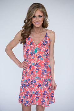 Floral Halter Swing Dress | Magnolia Boutique