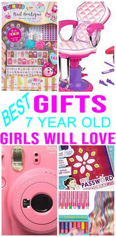 Wondering what gift to buy a 7 year old girl? If you are shopping for gift ideas for a 7 year old girl and don't know what to buy then check out this handpicked gift list. Birthday Presents For Girls, Girls Birthday Party Themes, 6th Birthday Parties, Best Birthday Gifts, 7th Birthday, Diy For Girls, Gifts For Girls, Girl Gifts, 7 Year Olds