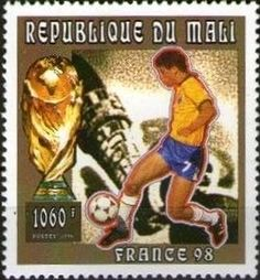 Stamp: Giovanni Silva de Oliveira and Trophy (Mali) (FIFA World Cup 1996…