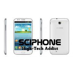 "Android N7100+ 3G Android 4.1 avec écran 5.3"" QHD MT6577 Dual-core 1Ghz Double sim, GPS, Wifi"