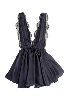 """Marilyn"" babydoll, $238, Sapphire Bliss available at Oui Hours"