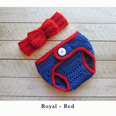 Baby Girl Baseball Crochet Chicago Cubs Headband - Newborn outfit - Coming Home Outfit , Team headwrap bow