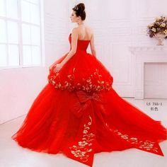 red wedding dress. awesome!
