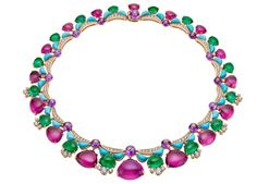 Bvlgari ~ Diva High Jewellery Emerald and Turquoise Necklace Bulgari Jewelry, Gems Jewelry, High Jewelry, Gemstone Jewelry, Jewelry Gifts, Jewelery, Jewelry Accessories, Jewelry Design, Designer Jewelry