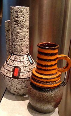Mid 20th Century West German  Fat Lava Ceramics
