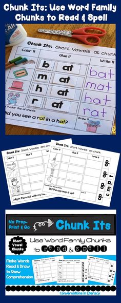 CHUNK ITS$!-  Teach students to read and spell in word family chunks, not individual sounds- great for making words, word work