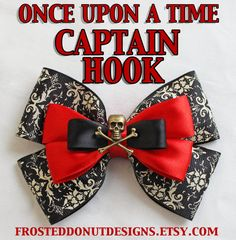Once Upon A Time Captain Hook inspired bow door FrostedDonutDesigns, $9.50