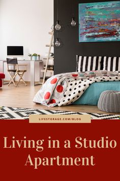 Here are some ideas to make the most of your one room studio apartment.