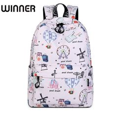 46011e5829d8 Casual Waterproof Polyester Women Backpacks Cute Hot Air Balloon Pattern Printing  Girls College Daily Mochila. Yesterday s price  US  31.62 (25.92 EUR).