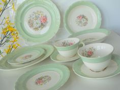 french antique dinnerware sets |