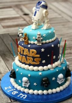 Enjoy this STAR WARS CAKES gallery album you will see numerous at last count) pictures that you can discover, discuss & give your opinion on. Plus upload and share your own Star Wars Cakes pics in addition to rating the photos & posting comments. Star Wars Torte, Bolo Star Wars, Fancy Cakes, Cute Cakes, Birthday Star, Cake Birthday, Birthday Ideas, Creative Cakes, Let Them Eat Cake