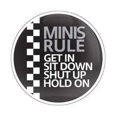 GoBadges CD0404 White MINI Rule 01 Magnetic Grill Badge