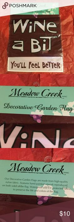 Funny Wine Garden Flag New 🍷🍷🍷💕💕💕 Excellent new in package condition 💕💕💕🍷🍷🍷 Meadow Creek Accessories