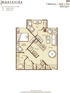 1 Bedroom 1 Bathroom + Den Apartment Home In Phoenix, AZ 85021. Cross  Streets