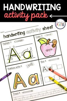 These NO PREP handwriting activity sheets make it fun for kids to practice letter names, letter formation and letter sounds! The handwriting activity sheets are great to use in your lesson plans as morning work, word work stations, supplemental handwriting practice or alphabet activity in kindergarten or preschool. Kindergarten Writing Activities, Handwriting Activities, Name Activities, Preschool Literacy, Alphabet Activities, In Kindergarten, Literacy Centers, Handwriting Sheets, Free Handwriting