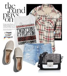 """""""The Band Plays On"""" by joyfulnoise1052 ❤ liked on Polyvore featuring Full Tilt, rag & bone/JEAN, Abercrombie & Fitch, Karl Lagerfeld, bandtshirt and bandtee"""