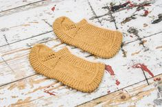 Hand Knit Natural Wool Women's Socks Slippers from Knitten Mum - Handmade With Love! by DaWanda.com