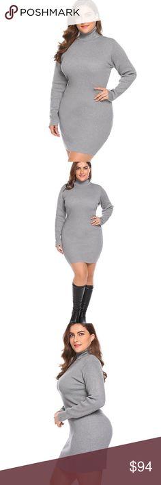 Cowl Neck Long Sleeve Bodycon Sweater Dress Plus ❌ Sorry, no trades.  fairlygirly fairlygirly Dresses Long Sleeve