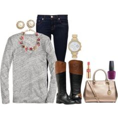 """These Boots for Fall"" by nutmeg-326 on Polyvore"