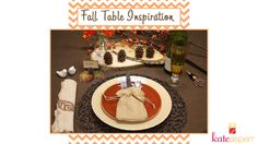 Fall Table Inspiration from @Kate Aspen http://www.kateaspen.com/fall-favors.html http://blog.kateaspen.com/?p=6815 http://youtu.be/1RG46wOeSFw