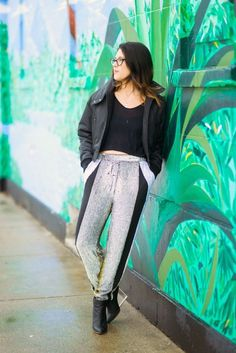 It's all about the sequin sweatpants (via chicityfashion.com)