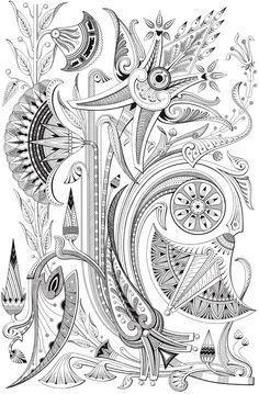 Creative Haven Art Deco Egyptian Design Coloring Book Welcome to Dover Publications Source by doraki Art Deco Tattoo, Nouveau Tattoo, Art Nouveau, Art Deco Stil, Art Deco Pattern, Coloring Book Pages, Art Deco Design, Pattern Drawing, Geometric Art