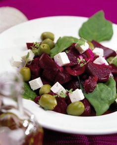 Feta-punajuurisalaatti Fruit Salad, Feta, Fruit Salads