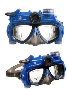 Underwater HD Video Recorder Mask by Liquid Image Futurama, Diving Camera, Gadget Magazine, Diving School, Sports Magazine, Cool Technology, Hd Video, Scuba Diving, Underwater