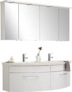 Waschtischanlage mit zwei Auszügen Bad Badezimmer Fliesen