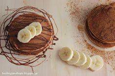 2 boys + Hope: Pancakes μπανάνας με 3 υλικά !!! Breakfast Time, Cheese, Cake, Food, Kuchen, Essen, Meals, Torte, Cookies