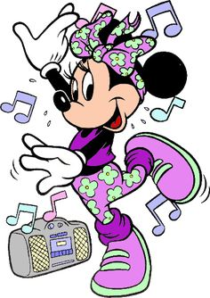 Minnie Mouse - Dancing to Music Minnie Mouse Drawing, Minnie Mouse Pictures, Mickey Mouse Images, Mickey Mouse Cartoon, Mickey Mouse And Friends, Disney Pictures, Walt Disney, Disney Mickey, Disney Art