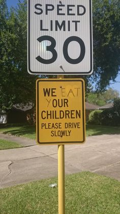 What a warm welcome to a new neighborhood... #WeEatChildren