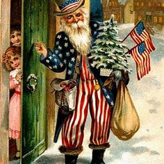Americana Vintage Santa